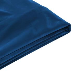 Capa em veludo azul escuro para a cama 160 x 200 cm FITOU