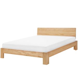 Cama de casal em madeira clara 180 x 200 cm ROYAN