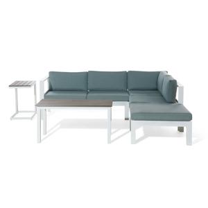 Conjunto de jardim moderno e funcional em alumínio branco