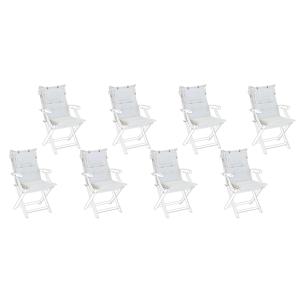 Conjunto de 8 almofadas em branco nata para a cadeira MAUI