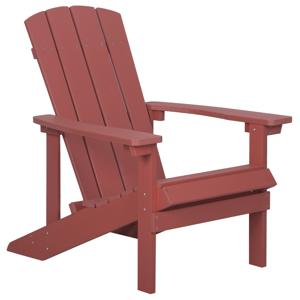 Cadeira de jardim vermelha ADIRONDACK