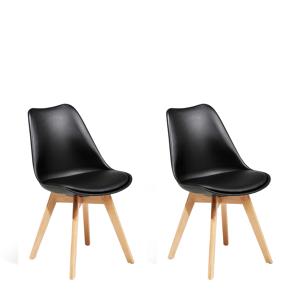 Conjunto de 2 cadeiras de jantar em preto opaco DAKOTA II
