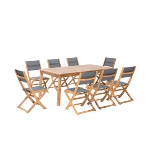 Conjunto de jardim exclusivo em madeira de acácia para 8 pessoas