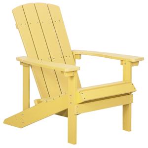 Cadeira de jardim amarela ADIRONDACK