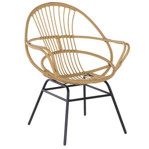 Cadeira de jardim em rattan sintético castanho claro BRESSO
