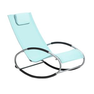 Cadeira de jardim de baloiço verde menta CAMPO