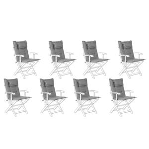 Conjunto de 8 almofadas cinzas para a cadeira MAUI
