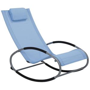 Cadeira de jardim de baloiço azul CAMPO