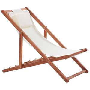 Cadeira de jardim reclinável e dobrável bege AVELLINO