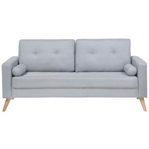 Sofá de 2 lugares em tecido cinzento claro KALMAR