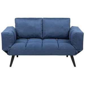 Sofá-cama em tecido azul marinho BREKKE