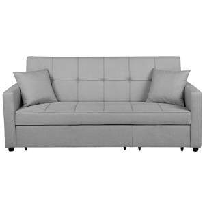 Sofá-cama com 3 lugares em cinzento claro GLOMMA