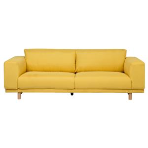 Sofá de 3 lugares em tecido amarelo NIVALA