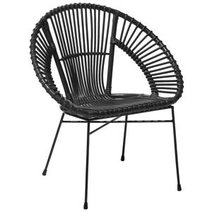 Cadeira de vime em preto SARITA