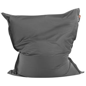 Puff almofada 140 x 180 cm cinza escuro