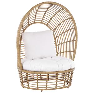 Cadeira em forma de cesto de rattan cor natural LIDO