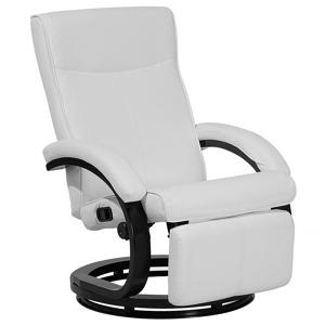 Cadeira reclinável em pele sintética branca MIGHT