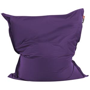Puff almofada 140 x 180 cm violeta escuro