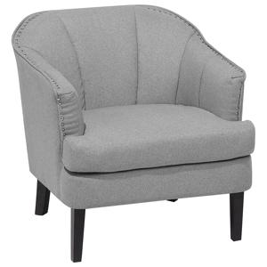 Poltrona em tecido cinza - Cadeira estofada - ELVERUM