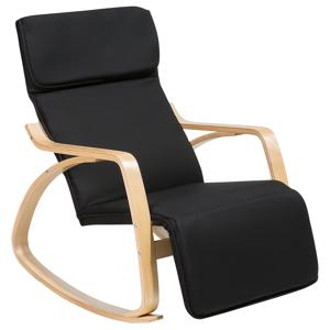 Cadeira de balanço preta - Cadeira reclinável - Poltrona - WESTON