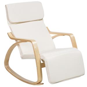 Cadeira de balanço creme - Cadeira reclinável - Poltrona - WESTON