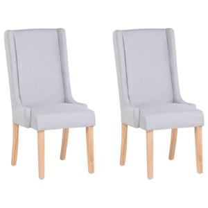Conjunto de 2 cadeiras em cinzento claro CHAMBERS