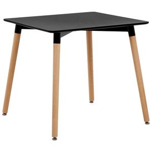 Mesa de jantar preta 80 x 80 cm BUSTO