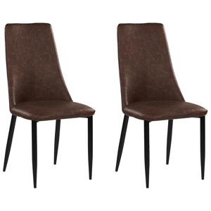 Conjunto de 2 cadeiras de refeição castanhas CLAYTON
