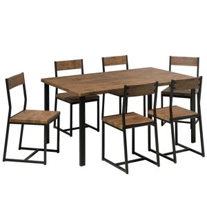 Conjunto de sala de jantar em estilo industrial
