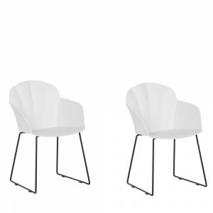 Conjunto de 2 cadeiras de jantar brancas SYLVA