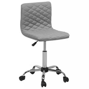 Cadeira de escritório cinza em tecido ORLANDO