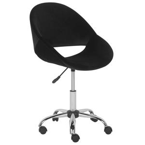 Cadeira de escritório em veludo preto SELMA