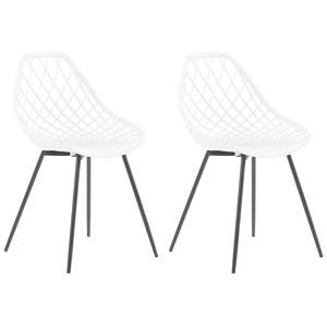 Conjunto de 2 cadeiras de jantar brancas CANTON