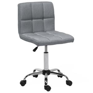 Cadeira de escritório cinza em tecido MARION