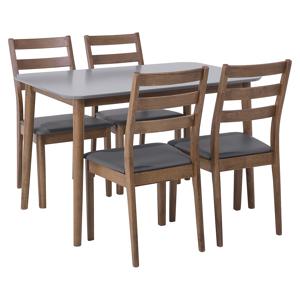 Conjunto de jantar elegante de madeira