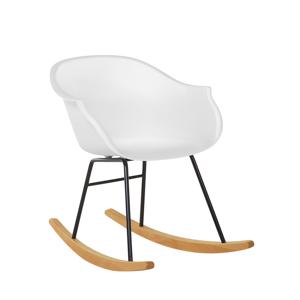 Cadeira de baloiço em plástico branco HARMONY