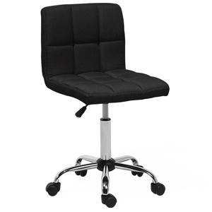 Cadeira de escritório preta em tecido MARION