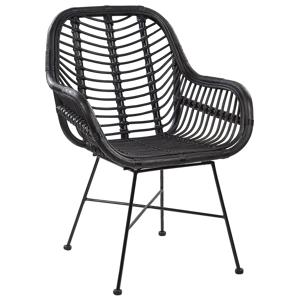 Cadeira de vime preto CANORA