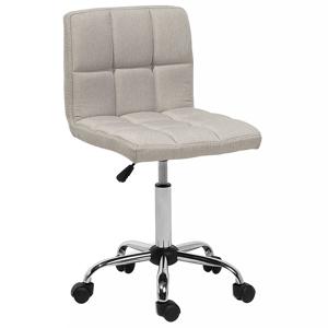 Cadeira de escritório bege em tecido MARION