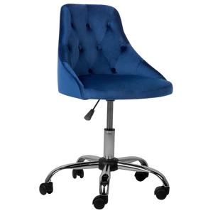 Cadeira de escritório em veludo azul cobalto PARRISH