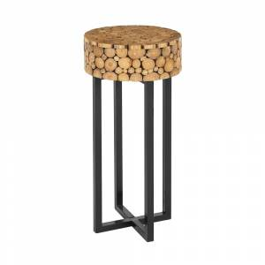 Mesa de apoio em madeira clara BOYLE
