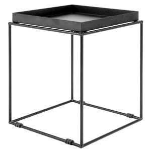 Mesa de centro em metal preto SAXON