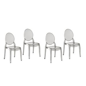Conjunto de cadeiras de jantar em acrílico: conforto e durabilidade!