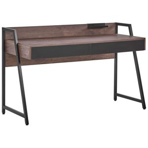 Secretária com efeito de madeira escura 120 x 50 cm HARWICH