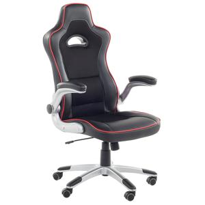 Cadeira de escritório preta - Cadeira gamer - Ajustável - MASTER