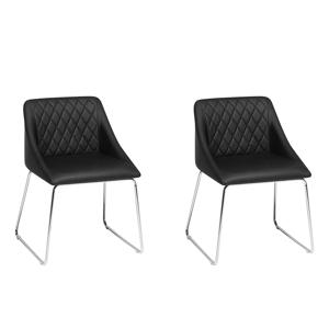 Conjunto de 2 cadeiras pretas - Cadeira de jantar - ARCATA
