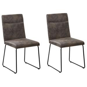 Conjunto de 2 cadeiras - Cinza escuro - NEVADA
