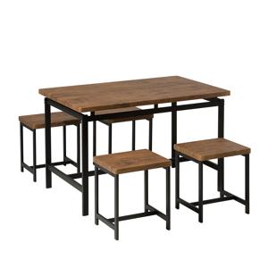 Conjunto para sala de jantar - Mesa 120 cm e 4 bancos - ARLINGTON
