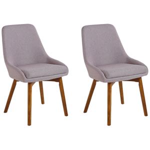 Conjunto de 2 cadeiras de jantar castanho acinzentado MELFORT
