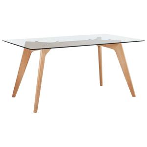 Mesa de jantar - Tampo de vidro - 160 x 90 cm - HUDSON